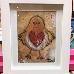 'Arfur Robin' Framed Print